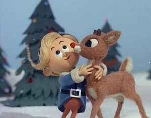rudolph the red nosed reindeer and hermey the elf