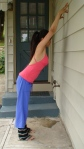 Yoga Shoulder Stretch at the Wall or Shower Stretch