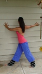 Pavrita Trikonasana Preparation at the Wall 4