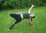 side plank yoga pose variation with tree pose
