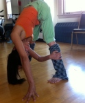 Side Variation of Standing Forward Bend
